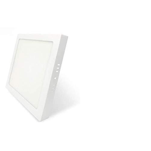 PACK DE 2 Plafones LIBRA Techo LED 24W 2880lm Blanco Neutro 4500k Cuadrado Superficie Panel LED Iluminacion Para Sala de Estar, Comedor, Dormitorio, Oficina, Tienda