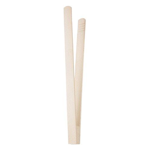 Pince pour barbecue 32 cm concombre Pince Pince Hêtre Pince Toast greifer bois