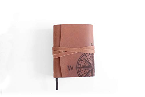 Leder Notizbuch A6 Leere Seiten Journal Notebook