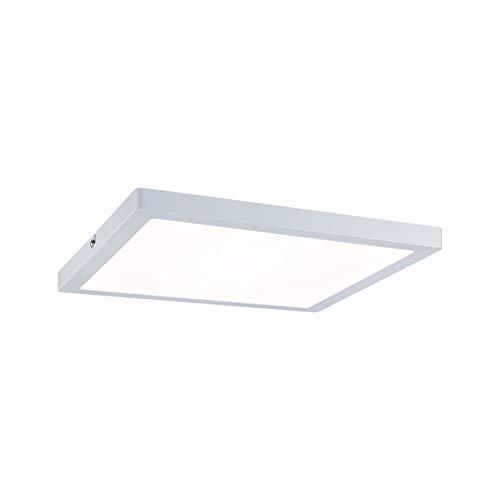 Paulmann 70939 LED Panel Atria eckig incl. 1x20 Watt Deckenlampe Weiß matt Deckenleuchte Kunststoff Wohnzimmerlampe 4000 K, 300 x 300 mm