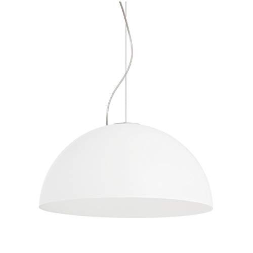 Lámpara de techo moderna cúpula media esfera E27 pantalla metal cocina salón diseño moderno italiano blanco negro rosa gris amarillo