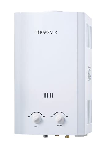 RBAYSALE Gas Water Heater 20L Portable Liquid Gas Water Heater Tankless Instant Boiler with with Shower Head Copper Water Tank for Home Outdoor RV Camping Caravan Horse
