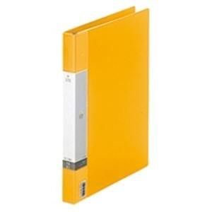 (業務用50セット) LIHITLAB クリアブック/クリアファイル リクエスト 〔A4/タテ型〕 差し替え式タイプ G3801-5 黄