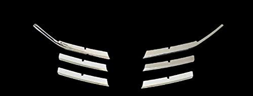 NUIOsdz Parachoques Delantero Rejilla luz antiniebla lámpara ventilación Marco Cubierta Pegatina embellecedor, para Peugeot 308 2016 2017
