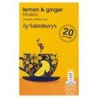 Sainsburys (セインズベリー) インフュージョンズ レモン & ジンジャー ティーバッグ x 20