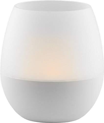 Goobay 55497 LED Candle Light Windlicht Kerzenlicht mit Blowing Control, 8 Lumen, Dekorative Beleuchtung für Wohnzimmer, Balkon, Terrasse oder Camping
