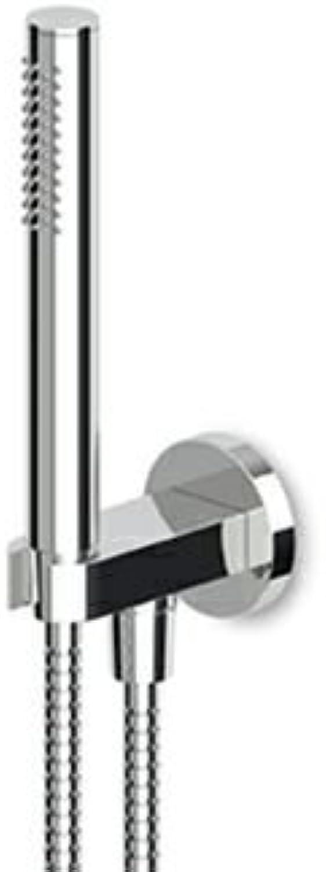 ZUCCHETTI Duplex Complete with Shower Hose + SUPP.+ Telephone Black N6