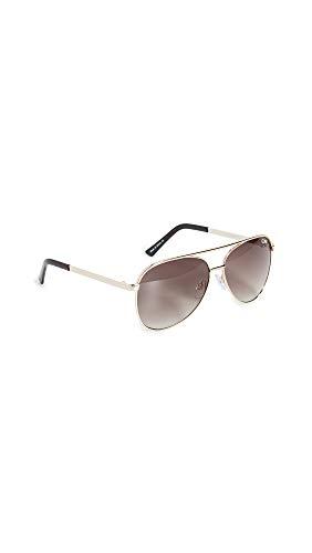 Quay Women's Vivienne Mini Sunglasses, Gold/Brown Lens, One Size