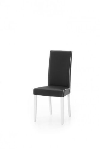 Legno&Design Lot de 2 chaises modernes en simili cuir rembourré, noir