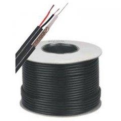 Negro CCTV Cable Reel coaxial y 100M escopeta Cable con CCS acero con revestimiento de cobre Núcleos