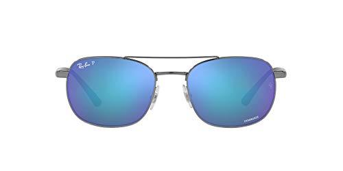 Ray-Ban 0RB3670CH Gafas, GUNMETAL, 54 Unisex Adulto