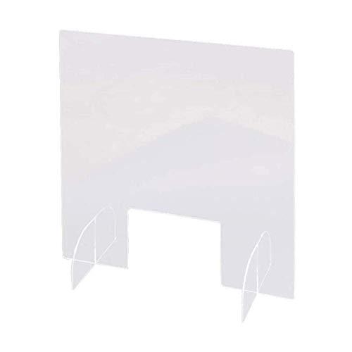 Zixin Vtical Desktop-Schutzschild Acryl-Kunststoff niesen psonal Schutz Arbeitsplatte/Schreibtisch/Empfangs niesen husten Displayschutz/partition-40 * 42cm (Size : 40 * 42CM)