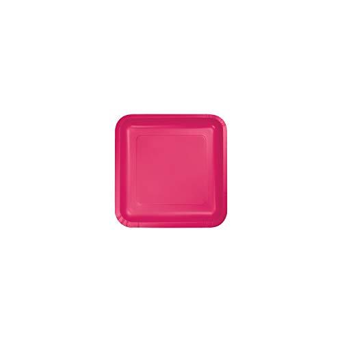 Hot Magenta Pink Dessert Plates, 54 ct