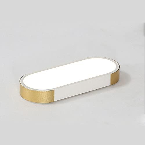 TTBDDDYH Simplicidad Moderna Luz de Oro Negro Tira de Lujo Dormitorio Lámpara de Techo LED Nórdico Montaje Empotrado Lámparas de Techo Personalidad Atmosférica Pasillo Entrada Balcón Iluminación Luz