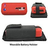 Action Mount Wearable Battery Charger   5200mAh External Power Pack with Holster. Perfect for Sport Camera or Phone Charging. Most Affordable Wearable Battery Solution. (Red Battery & Holster)