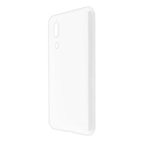caseroxx TPU-Hülle für Sharp Aquos C10, Handy Hülle Tasche (TPU-Hülle in weiß-transparent)