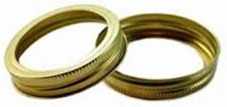 Generic (Made by Ball) Regular Mouth Mason Jar Canning Gold Bands or Rings 180 Total (15 Dozen) (Bands Only; No Lids), Bulk