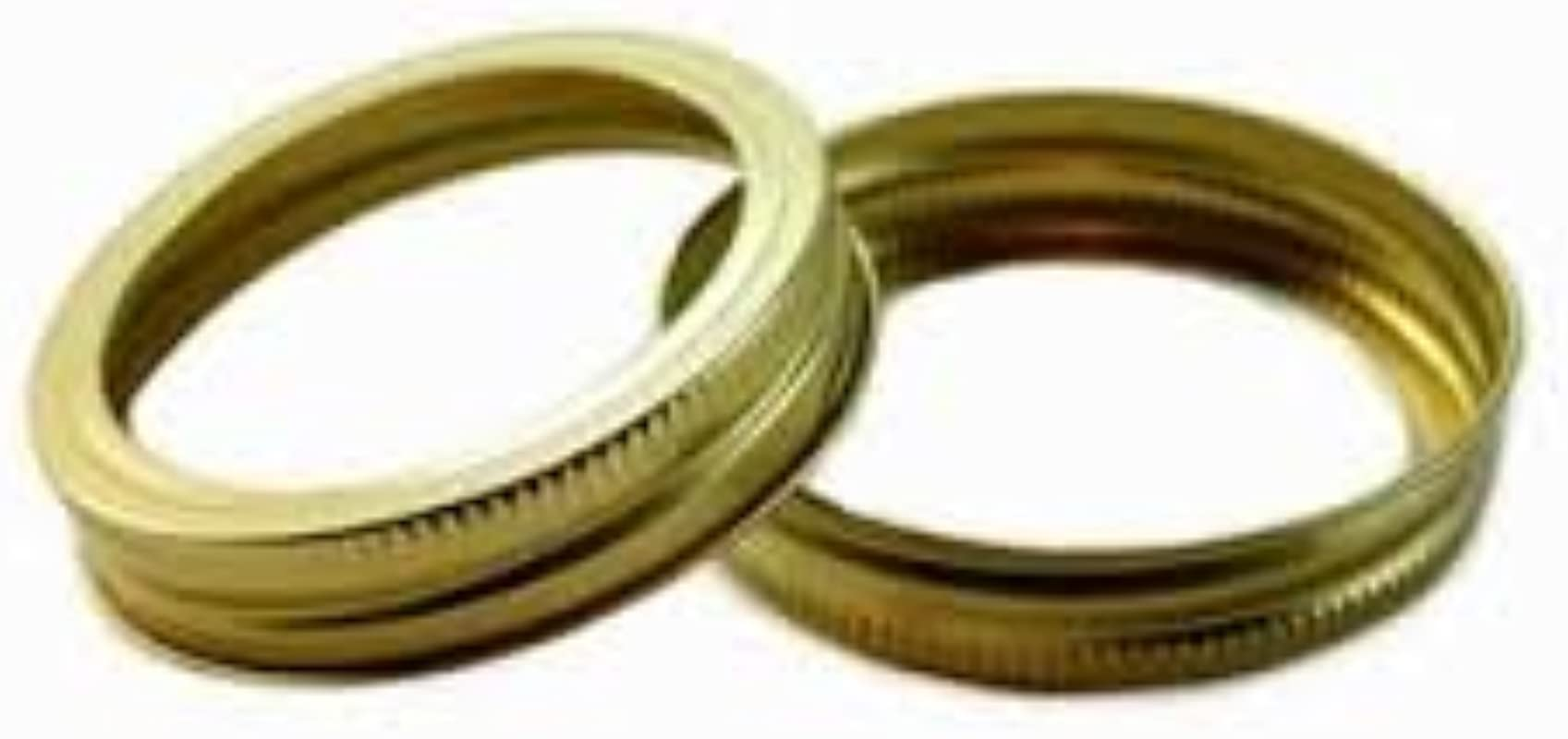 Generic Made By Ball Regular Mason Jar Canning Gold Bands Or Rings 12 Bands 1 Dozen 70mm Size Bands Only No Lids Bulk