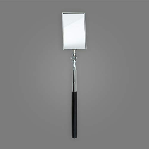 Ullman K-2 Rectangular Telescopic Inspection Mirror, Mirror Width 2 1/8 inches, Mirror Length 3 1/2 inches, Overall Length 11 1/4 inches