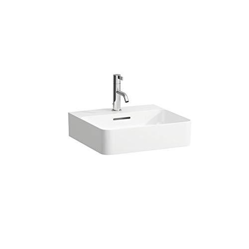 Laufen VAL Aufsatzwaschtisch, 1 Hahnloch, mit Überlauf, US geschl. 450x420, weiß, Farbe: Weiß mit LCC