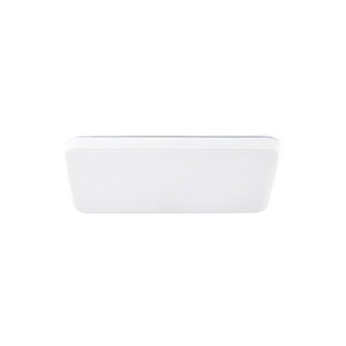 Faro Barcelona Sogo 62961 Plafonnier avec ampoule LED 25 W Corps en aluminium et diffuseur en plastique opale Blanc