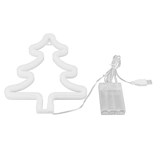 Garosa Árbol de Navidad Letreros de neón Luz Led Art Decoración de Pared Luces Batería Señal de neón operada por USB Noche para Suministros de Fiesta Accesorio de decoración de habitación de niñas