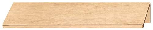Gedotec Möbelgriff Küche Kantengriff Alu Schubladengriff - KAVA | Türgriff Aluminium Messing Dunkel gebürstet | Schrank-Griff Länge 70 mm | 1 Stück - Griffleiste für rückseitige Verschraubung