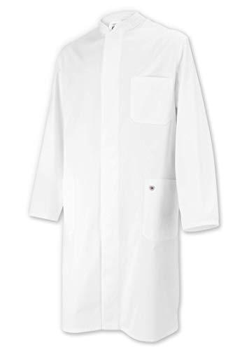 BP 1324-152-21-54 Mantel für Männer, Langarm, Stehkragen, 205,00 g/m² Reine Baumwolle, weiß ,54
