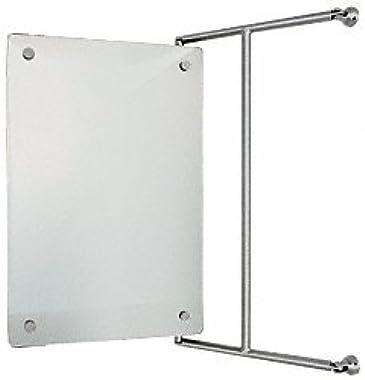 "CRL FPM1523BN Brushed Nickel 15"" x 23"" Frameless Pivot Mirror"