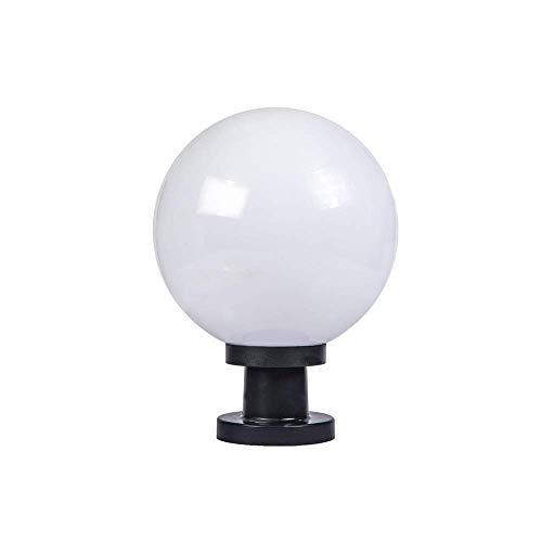 FENGLIAN Creative IP55 Waterproof Outdoor Pillar Post Lamps Rainproof Globe Landscape Column Light Acrylic Ball Lantern Courtyard Patio Porch Gate Lawn Lighting Fixture E27 Street Light