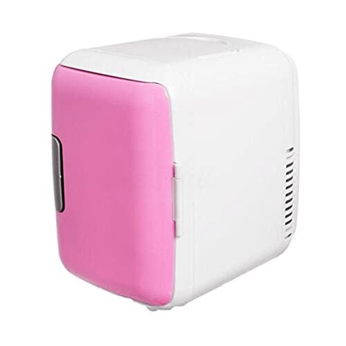 YY 4L 12V / 220V eléctrico portátil mini refrigerador refrigerador congelador congelador hogar (Color Name : Pink)