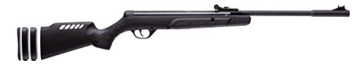 Crosman CYT6M77 Spring-Powered .177-Caliber Youth Break Barrel Air Rifle With Adjustable Grow-With-Me Stock, Black