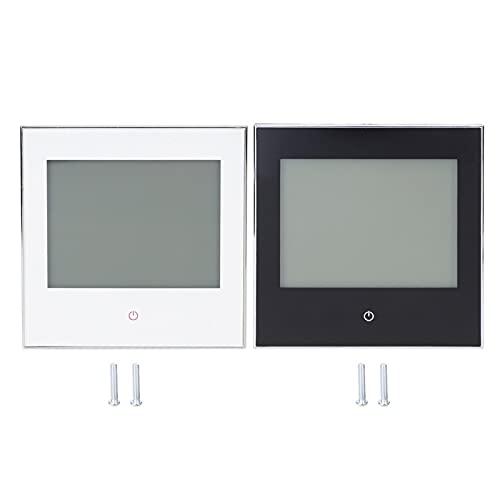 WANZSC Termostato Controlador de Temperatura Ambiente Pantalla táctil LCD programable semanalmente 3A AC110‑230V, Termostato Termostato de calefacción Inteligente para habitación(Blanco)
