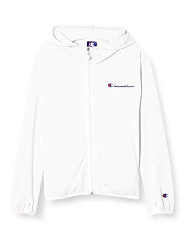 [チャンピオン] パーカー 吸汗速乾 スクリプトロゴ フルジップフーデッドシャツ ガールズ スポーツ CK-TS112 ホワイト 100