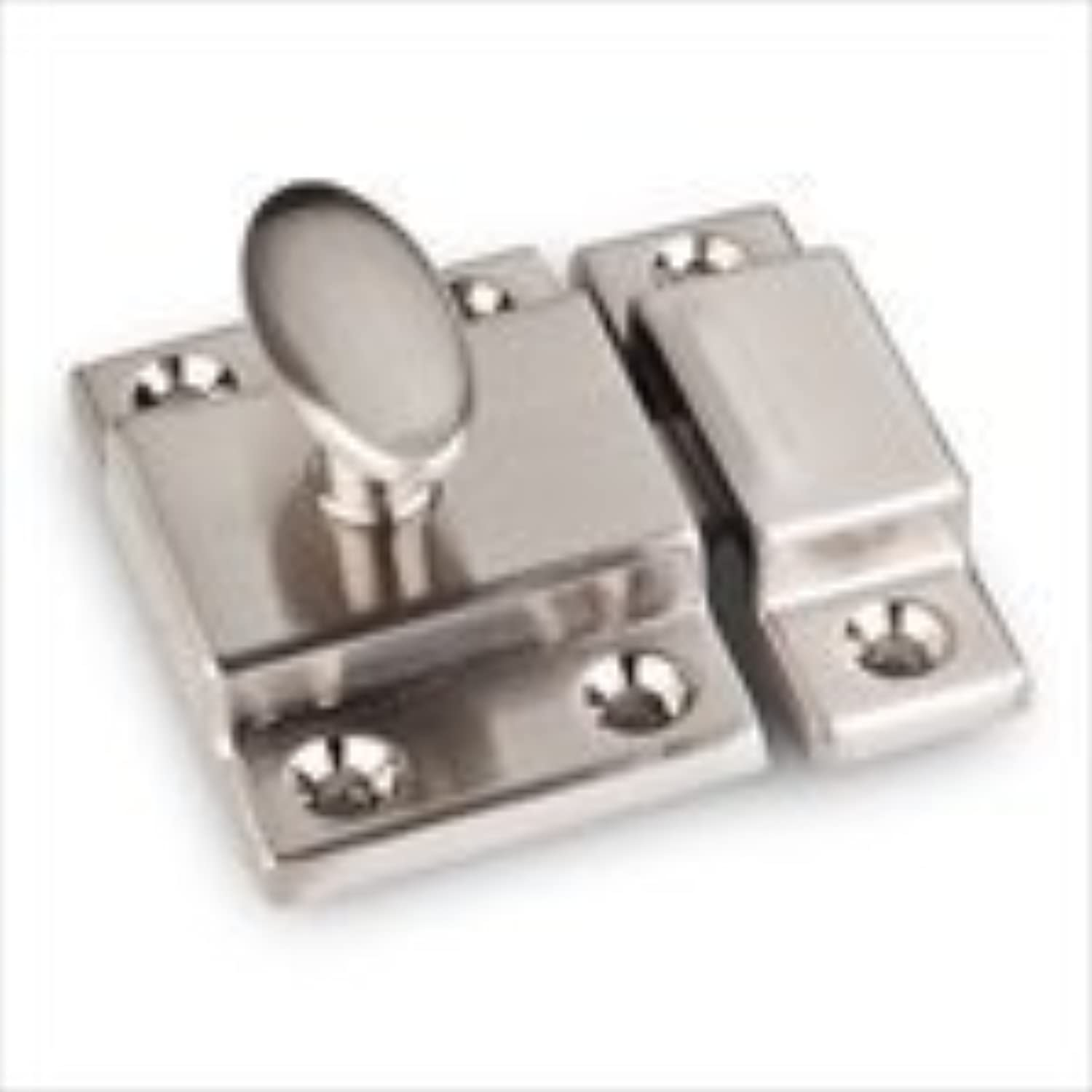 Jeffrey Alexander CL101 Mechanical Cabinet Latch and Strikeplate, Satin Nickel by Cabinet Components