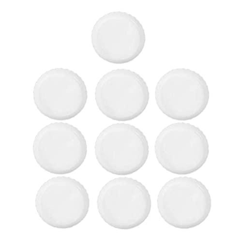fregthf Plato platillo platillo Base plástico Goteo de Agua bandejas Redonda Maceta Bandeja para balcón jardín Granja Blanco 10pcs