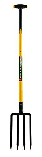 Spear & Jackson 81803 Fourche à bêcher 4 dents avec manche trimatière béquille 90 cm