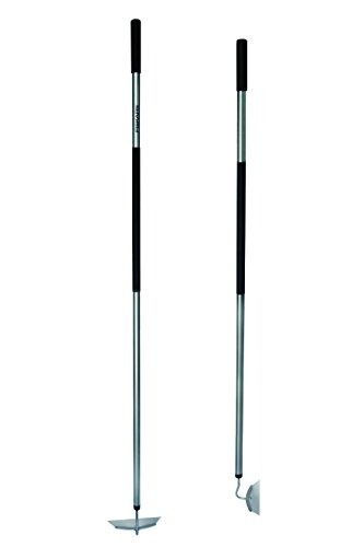 Fiskars Hacke, Länge: 155 cm, Breite: 18,5 cm, Stahl-Kopf/Aluminium-Stiel, Schwarz/Grau, Ergonomic, 1000675