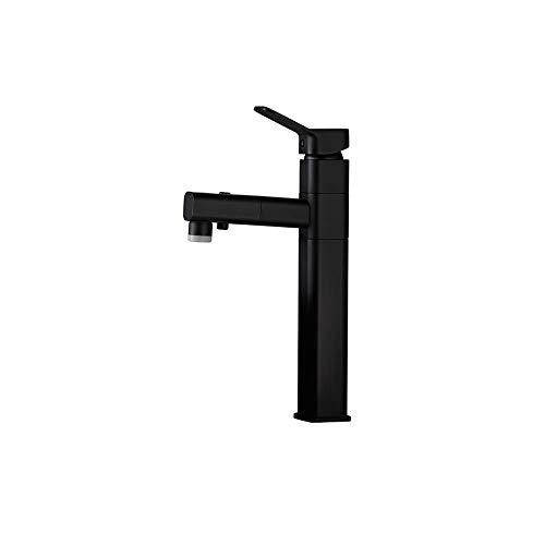 LHTCZZB Tres Modos de enfriamiento de Grifo Ajustables y Ajuste de calefacción Material de latón Disco de cerámica Burbujeador de Filtro de un Solo Orificio Adecuado para baño y Cocina (Negro)
