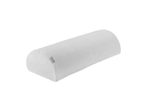 Dormisette Q991 Kniehalbrolle für Rückenschläfer, atmungsaktiv, 50 cm x 20 cm x 12 cm, weiss Knierolle