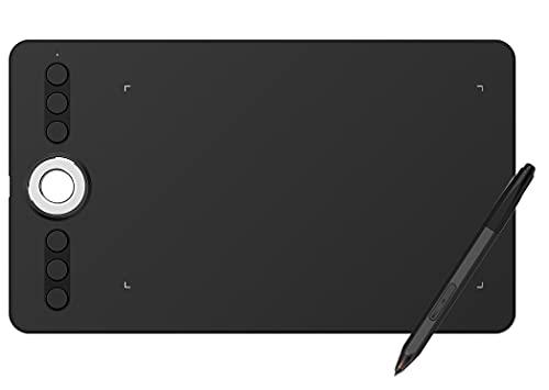 Xyfw Tableta De Dibujo Gráfico Tableta con Lápiz con Lápiz Óptico Pasivo Sin Batería Y Teclas De Acceso Directo 8192 Niveles De Presión para Reuniones De Educación En Línea De Arte