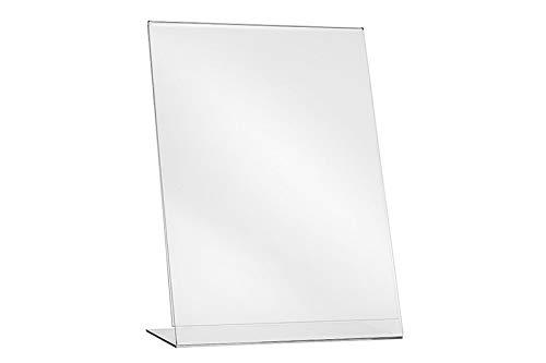 L-Ständer A4 Hochformat/Tischaufsteller Flyer Ständer Prospektständer Aufsteller Werbung Acryl