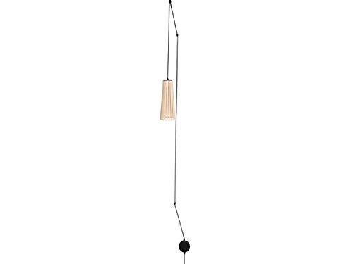 Pendelleuchte mit Stecker Holz Weiß Schalter am Kabel 2-flmg skandinavisches Design Hängelampe Bett