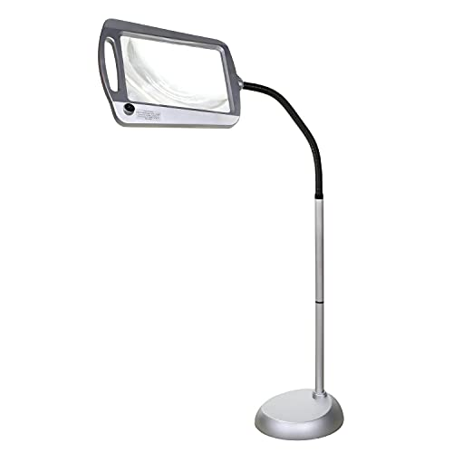 Full-Page Floor Magnifying Lamp - Silver