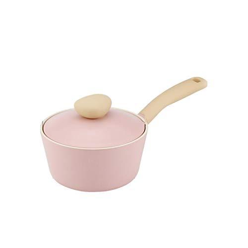 Padelle universali Pentole Per Induzione Il Latte Blu-rosa In Materiali Ceramici Noodle Istantaneo Portatile Multifunzionale Uso Domestico Diametro 18 Cm...