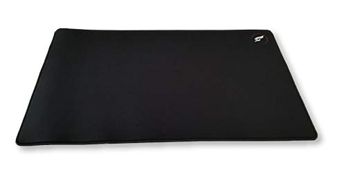 ZeroGravity XL Extended Gaming Mouse Pad - Large, Stitched Edges, Long Cloth Mousepad 24'x14' Black/Black Stitching