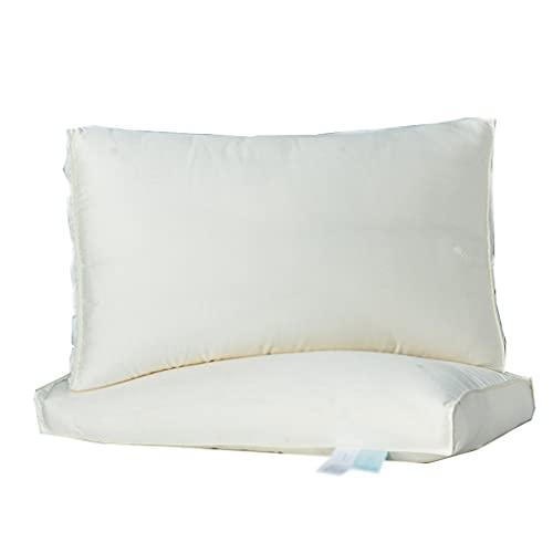 LYUN Almohada de la Cama Suave Microfibra Almohada con Fundas de Almohadas Lavables Almohadas de Hotel para Dormir para Dormir y Espalda, Blanco-Blanco (Color : 1 Pack)
