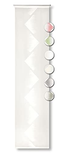 Neutex for you! Rubin Schiebevorhang, Gardine, Vorhang, Transparent, 245 x 60 cm, wollweiß
