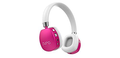 Puro Sound Labs - PuroQuiet - Cuffie bluetooth on-ear a cancellazione del rumore attivo - Leggere per bambini - Limitazione del volume a 85 dB - Qualità audio da studio più sicura - Con Custodia