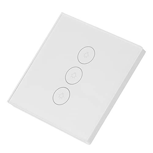 KUIDAMOS Interruptor de luz, Que le Permite planificar el Momento Exacto en el Que Las Luces y los electrodomésticos se encienden o apagan automáticamente Interruptor de luz de Pared Inteligente